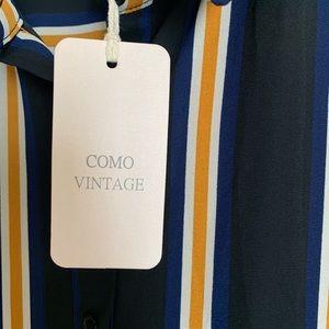 Como Vintage Tops - NWT Como Vintage striped button down tunic